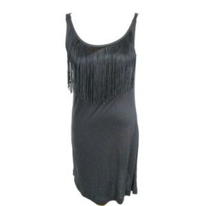 I Love Heart Ronson Dress Black Fringe 1932-AF